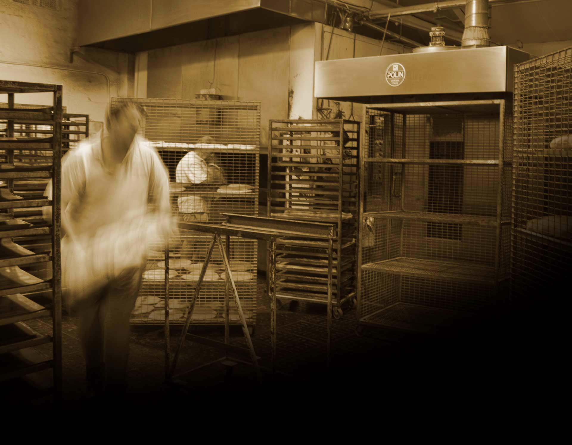 A baker moving some Vasese dough